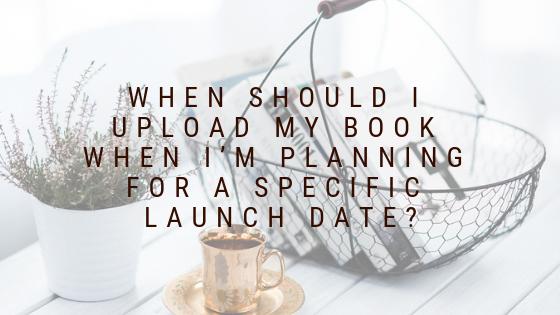 Author Blog Banner - When should I upload