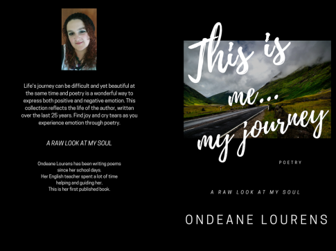 Poetry book front cover and back cover