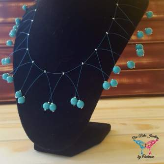December Birthstone necklace - Turquoise R80 5