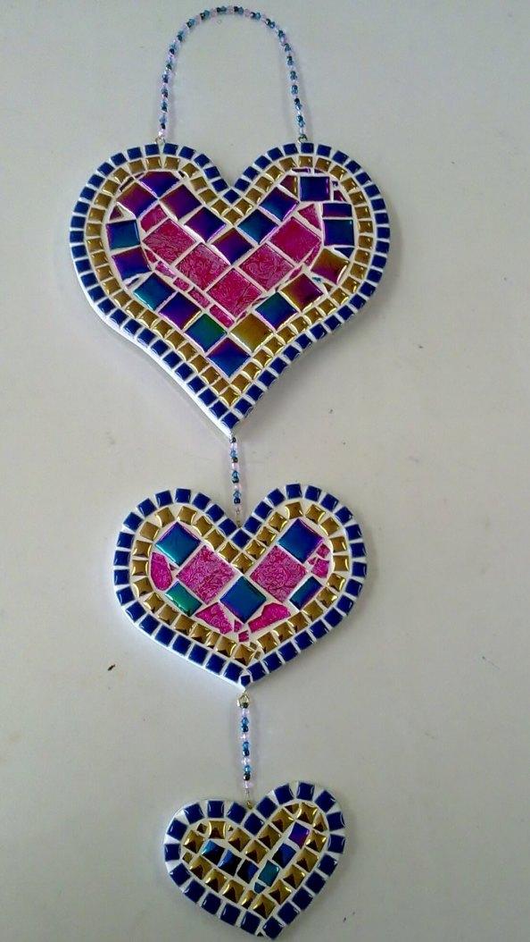 Mosaic'd Tiered Heart R310