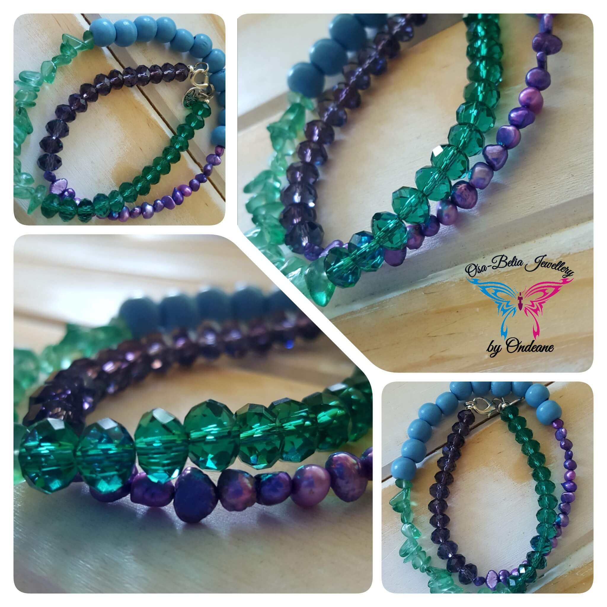 Peacock Feather Colour Palette Bracelet R60 1