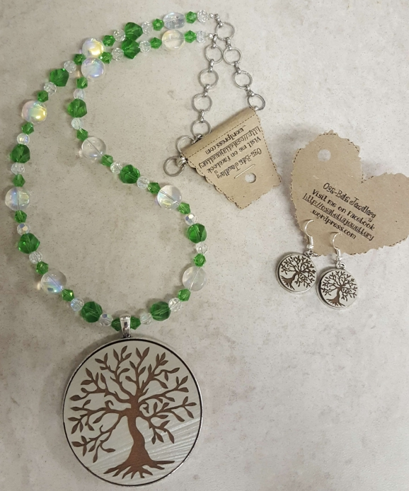 Tree of Life Set Necklace @ R160 & Earrings @ R42