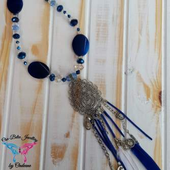 Tribal Blue Necklace 4