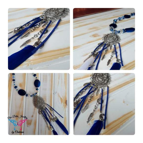 Tribal Blue Necklace 5