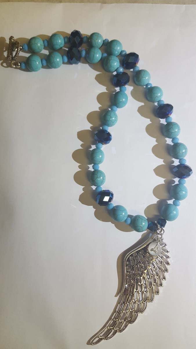 Turquoise Wing with Moonstone R305