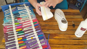Author - How to - Sharpie Takkie Craft Project 8