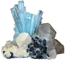 Aquamarine crystals 1