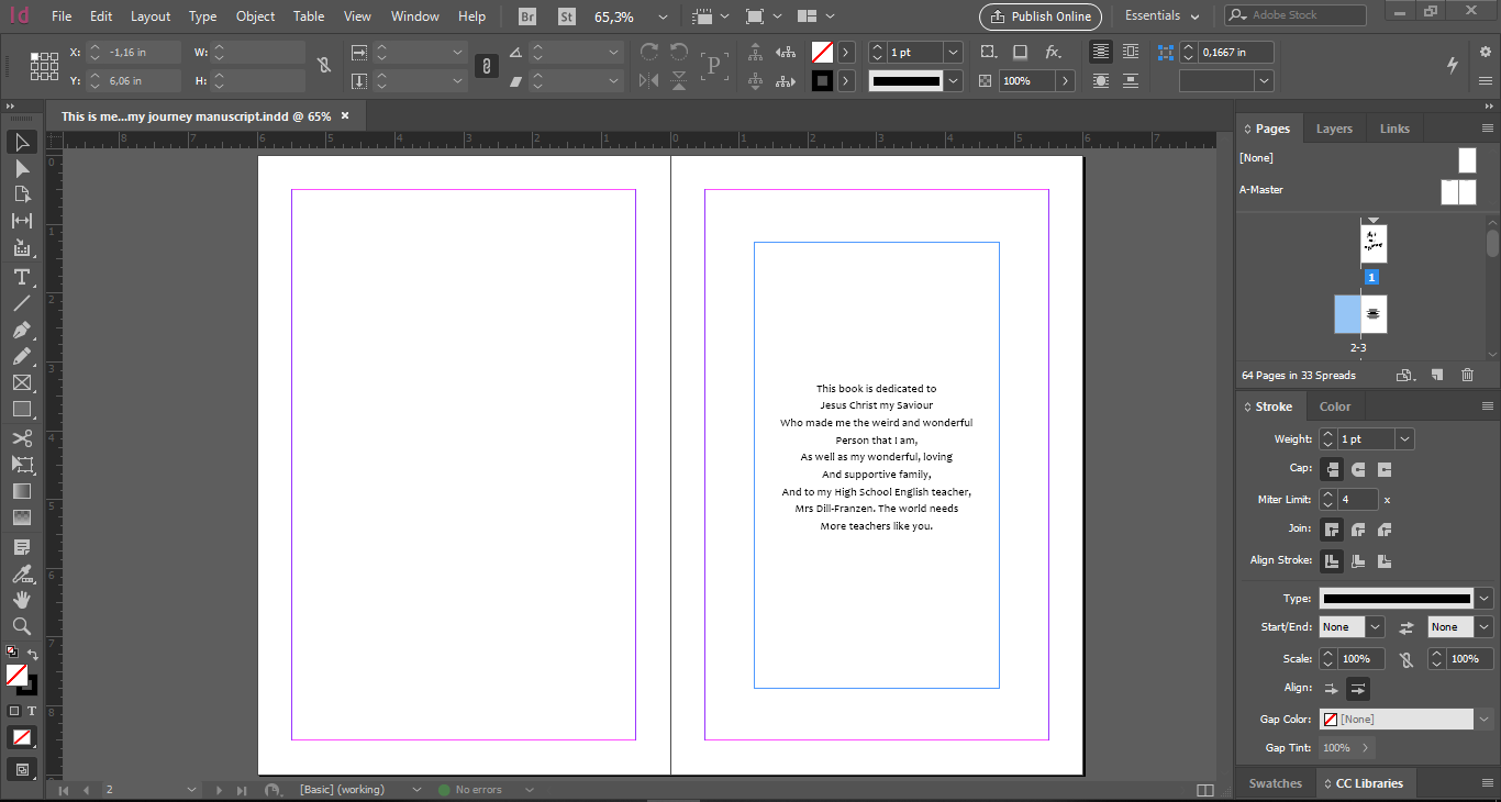 InDesign Screen Completed