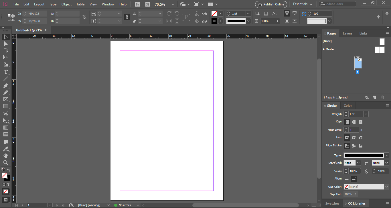 InDesign Screen New